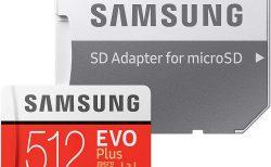 【Amazon初売り】Samsung microSDカード256GB EVOPlus Class10 UHS-I U3対応 512GBが特価8,099円